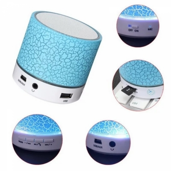 Портативная колонка WS-K88BT 3W с подсветкой Mini Wireless Speaker