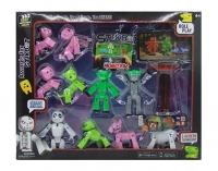 Стикбот Stikbot Monsters Набор 2 героя, 8 питомцев + Штатив