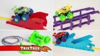 Монстр Траки Trix Trux (Trie Trul) BB881 - 1 машинка, веревки + препятствия