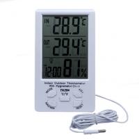 Цифровой термометр + гигрометр TA298 C/F
