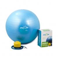 Мяч гимнастический STARFIT GB-102 65 см, с насосом, синий (антивзрыв) 1/10