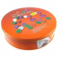 Набор для игры в Покер 120 фишек + 2 колоды в металл.боксе 09229