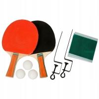 Настольный теннис набор Ракетки, 3 шарика + сетка