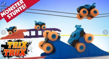 Монстр Траки Trix Trux (Trie Trul) BB883 - 2 машинки, веревки + препятствия