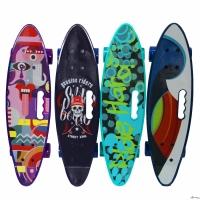 Скейтборд SELECT со светящимися колесами, р-р 60х16см, Колёса PU 60мм