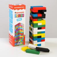 Настольная игра Падающая башня kids, 54 бруска