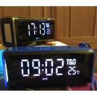 Портативная колонка TG-174 Stereo BT + часы и термометр