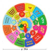 Деревянные Часы-Пазл Учимся считать