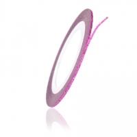 Нить на клеевой основе перламутровая (розовая) 1мм