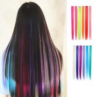 Цветная прядь волос в ассортименте 50см