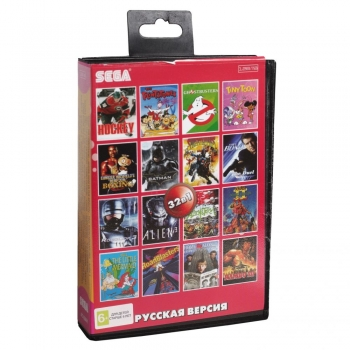 Картриджи Sega 32в1  SPIDER-MAN/TINY TOON