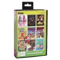 Картридж Sega 9в1 BARBIE /BUBA'N'STIX/COMIXE ZONE /FLINS.+.