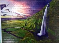 Алмазная мозаика 30х40 Круглые стразы Водопад