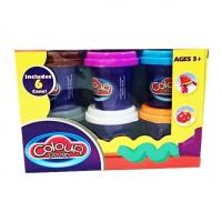 Набор Пластилина для лепки Плей-До Colour 6 цветов № 9202