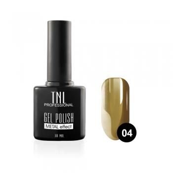"""Гель-лак """"TNL - Metal"""" №04 - оливковый (10 мл.)"""