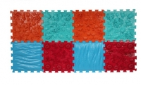 Массажный коврик Орто-пазл Микс Море 8 пазл 4 цвета