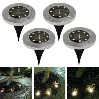 Уличный светильник Disk Lights на солнеч. батарее 8 LED диодов