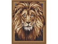 Алмазная мозаика 40х50 Круглые стразы Король Лев
