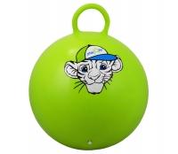 """Мяч-попрыгун STARFIT GB-402 55 см """"Тигренок"""", с ручкой, зеленый 1/10"""