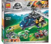 Конструктор 10925 Dinosaur World  415 дет. Погоня за Блю