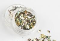 Металлические пайетки для ногтей TNL чешуя дракона 3D серебро