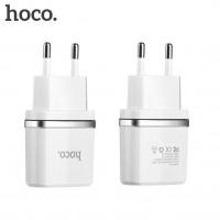 Зарядное уст-во с кабелем Носо C12 Smart dual 2.4A (micro usb)