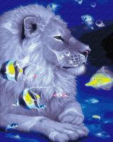 Картина по номерам ZX 20403 Лунный лев 40*50