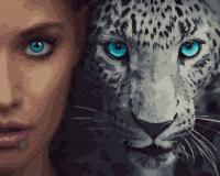 Картина по номерам ZX 23398 Дикие. Леопард 40*50