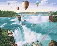 Картина по номерам ZX 23658 Полет над водопадом 40*50